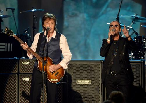 David Letterman Interviews Paul McCartney And Ringo Starr For CBS Beatles Tribute