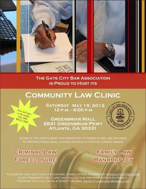 Gate City Bar Hosts A Community Law Clinic At Greenbriar Mall