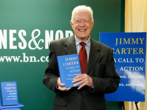 Jimmy Carter: 'Israeli Troops Should Withdraw From Gaza'