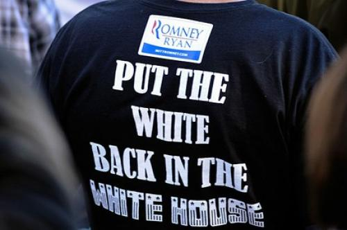 Racist T-Shirt At Romney Rally Gets Media Attention