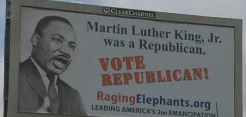 Republicans Use Image Of MLK To Woo Black Voters