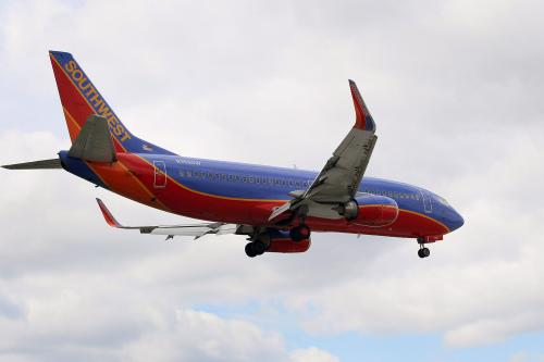 Southwest Airlines Flys Into Atlanta